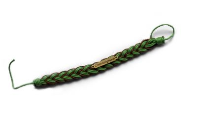 Cinéma Humain Bracelet (Green & Dark Brown)
